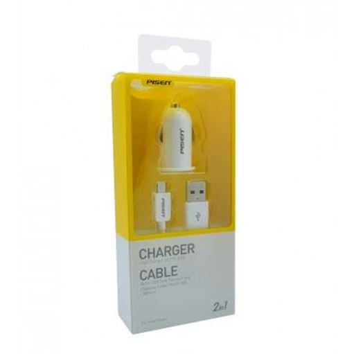 Picture of Original Pisen iCar Charger with Micro Data Cable (0.8M)