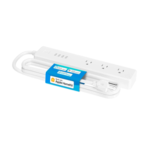 Picture of Meross Smart WiFi Surge Protector [Compatible with Apple HomeKit, Siri, Amazon Alexa, Google Home and SmartThings | 3/4 AC Outlets | 4 USB Ports and 6ft Extension Cord | Voice and Remote Control | MSS425EHK]